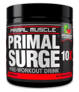 primal surge pre workout bottle