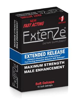 a box of extenze pills